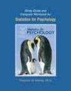 Study Guide and Computer Workbook for Statistics for Psychology 5th edition 9780136043256 0136043259