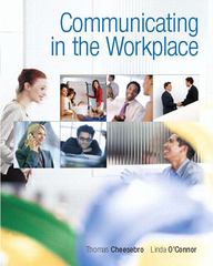 Communicating in the Workplace 1st edition 9780136136910 0136136915