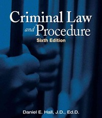 Criminal Law and Procedure 6th edition 9781111312725 1111312729