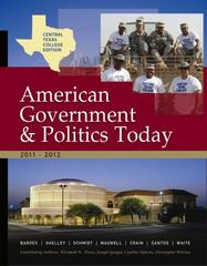 Central Texas College American Government, 2011-2012 Edition 2nd edition 9781111836269 1111836264