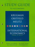 Study Guide for International Economics 9th Edition 9780138019242 013801924X
