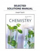Selected Solutions Manual for Chemistry 6th edition 9780321727268 0321727266