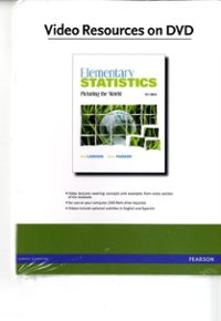 Videos on DVD for Elementary Statistics 5th edition 9780321693747 0321693744