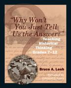 Why Won't You Just Tell Us the Answer 1st Edition 9781571108128 1571108122