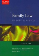 The Law of Family in South Africa 0 9780195985801 019598580X
