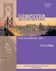 Computer Accounting with Quickbooks 2011 MP -wQBPremAccCD, wStudent CD 13th Edition 9780077499860 0077499867