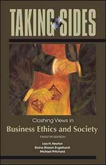 Taking Sides: Clashing Views in Business Ethics and Society 12th edition 9780073527352 0073527351