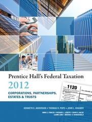 Prentice Hall's Federal Taxation 2012 Corporations, Partnerships, Estates & Trusts 25th edition 9780132754149 0132754142
