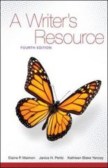 A Writer's Resource (comb-version) Student Edition 4th edition 9780073384030 0073384038