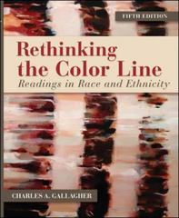 Rethinking the Color Line 5th Edition 9780078026638 0078026636