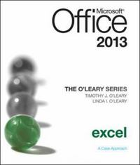The O'Leary Series: Microsoft Office Excel 2013, Introductory 1st Edition 9780077400224 0077400224