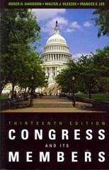 Congress and Its Members 13th Edition 9781608716425 1608716422