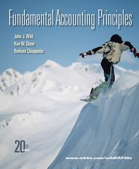 Fundamental Accounting Principles with Connect Plus 20th edition 9780077505981 0077505980