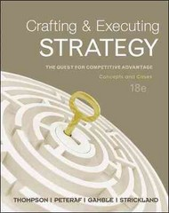 Crafting &amp. Executing Strategy: Concepts &amp. Cases with BSG/Glo-Bus 18th edition 9780077903602 0077903609