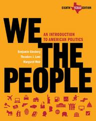 We the People 8th edition 9780393149586 0393149587