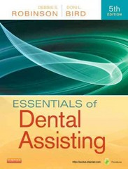 Essentials of Dental Assisting 5th Edition 9781437704235 1437704239