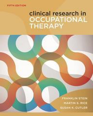 Clinical Research in Occupational Therapy 5th Edition 9781111643317 1111643318
