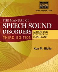 The Manual of Speech Sound Disorders 3rd Edition 9781305176263 130517626X