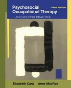 Psychosocial Occupational Therapy 3rd Edition 9781285401669 1285401662