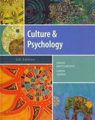 Culture and Psychology 5th Edition 9781111344931 1111344930