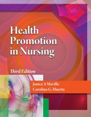 Health Promotion in Nursing 3rd edition 9781133711353 1133711359