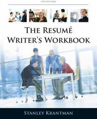 Resume Writer's Workbook 4th Edition 9780538497916 0538497912
