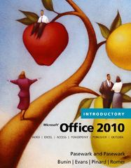 Microsoft Office 2010, Introductory 1st Edition 9780538475501 0538475501