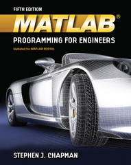 MATLAB Programming for Engineers 5th Edition 9781111576714 1111576718