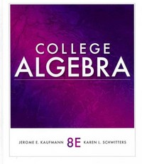 College Algebra 8th edition 9781111990367 1111990360