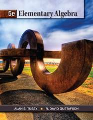 Elementary Algebra 5th edition 9781111567668 1111567662