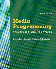 Media Programming 9th Edition 9781111344474 1111344477