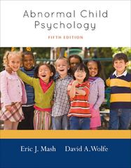 Abnormal Child Psychology 5th edition 9781111834494 1111834490