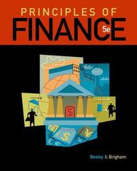 Principles of Finance 5th edition 9781111527365 1111527369