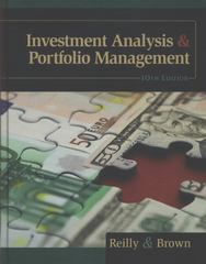 Investment Analysis and Portfolio Management 10th edition 9781133711773 1133711774