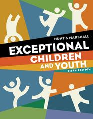 Exceptional Children and Youth 5th Edition 9781111833428 1111833427