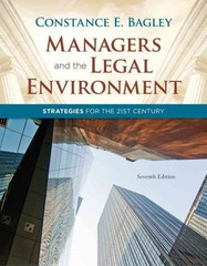 Managers and the Legal Environment 7th Edition 9781111530631 1111530637