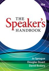 The Speaker's Handbook 10th edition 9781111346508 111134650X