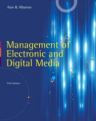 Management of Electronic and Digital Media 5th Edition 9781111344375 111134437X