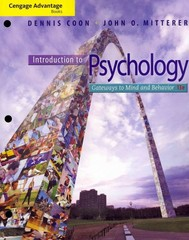 Cengage Advantage Books: Introduction to Psychology 13th edition 9781111834838 1111834830