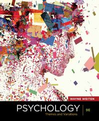 Psychology 9th edition 9781111354749 111135474X