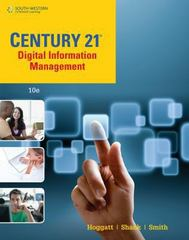 Century 21 Digital Information Management, Lessons 1-145 10th Edition 9781285700939 1285700937