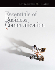 Essentials of Business Communication 9th Edition 9781111821227 1111821224