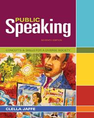 Public Speaking 7th edition 9781111347680 1111347689
