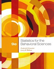 Statistics for the Behavioral Sciences 9th edition 9781133713296 1133713297