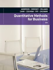 Quantitative Methods for Business (with Printed Access Card) 12th Edition 9780840062338 0840062338
