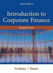 Introduction to Corporate Finance 3rd Edition 9781111532611 1111532613