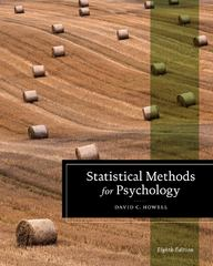 Statistical Methods for Psychology 8th Edition 9781111835484 1111835489