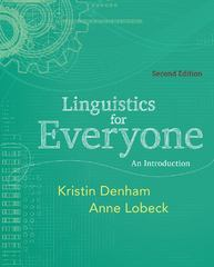 Linguistics for Everyone 2nd Edition 9781111344382 1111344388