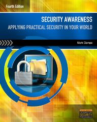 Security Awareness 4th Edition 9781111644185 1111644187