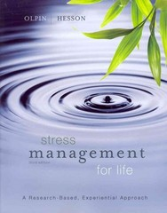 Stress Management for Life 3rd Edition 9781111987251 1111987254